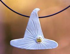 sun magic fine silver pendant pmc precious metal clay by jewelflyt, $56.00
