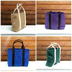 Cotton Canvas Tote Bag Made in USA
