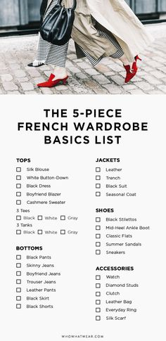 5 Basics Later, and You're Practically French via @WhoWhatWear