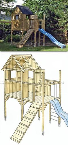 DIY Backyard Playhouse - Children's Outdoor Plans and Projects | WoodArchivist.com