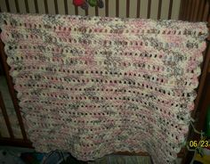Neopolitan and Cream Baby Blanket by NiftyNeedlework on Etsy
