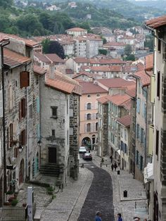 The El Camino de Santiago / The Way of St. James.  This is st jean pied de port ... The last stop on the French side of the Pyrenees on the casino pilgrimage  !! Our tours visit this town frequently !
