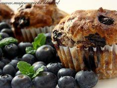 Muffiny jagodowe z blogu Moje Wypieki.