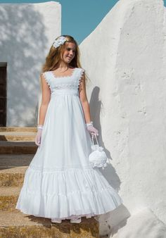 First communion dresses Handmade embroidery by MejorDeseocom, $600.00