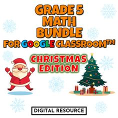 Winter, Christmas-themed interactive Google Slides digital task card math games covering coordinate graphing, area of a rectangle, the volume of a prism. CCSS 5.g.a.2 5.md.c.5.b 5.nf.b.4.b Google Classroom, Distance Learningeach product has 2 challenges, 10 multiple choice self-checking problems eac... Christmas Math, Winter Christmas, Christmas Themes, 5th Grade Math, Multiple Choice, Google Classroom, Math Games, Task Cards, Distance