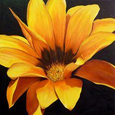 Yellow flower painting http://webneel.com/flower-paintings | Design Inspiration http://webneel.com | Follow us www.pinterest.com/webneel