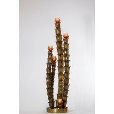 Cactus Floor Lamp in the Style of Napoleone Martinuzzi, circa 1950s