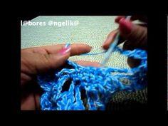 Cómo tejer una bufanda con flores (crochet flower scarf lariat) -tejido para zurdos- - YouTube