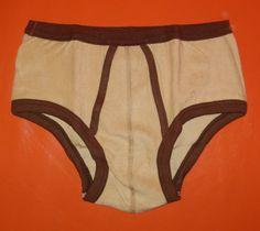 DEADSTOCK 1970s Men's Terrycloth Briefs Tan by ExpatriateVintage