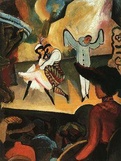 Ballets Russes de August Macke. A companhia itinerante Ballets Russes  é considerada por alguns como a melhor companhia itinerante do mundo.