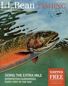L.L.Bean Spring Fishing 2013 catalog cover by fish and wildlife artist Fred W. Thomas