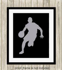 Gift for boy basketball art boys wall art boys room decor Boy Wall Art, Basketball Art, Motivational Phrases, Boys Room Decor, Sports Art, Gifts For Boys, All Print, Printable Art, Logan