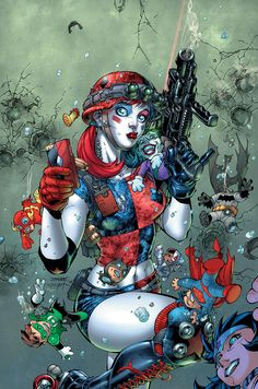 Harley Quinn & The Suicide Squad April Fool's Special #1 Cover by Jim Lee & Scott Williams