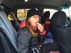 Kathy taking a break....: 100 miles