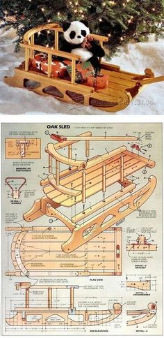 Snow Sled Plans - Children's Outdoor Plans and Projects | WoodArchivist.com #woodworkingplans