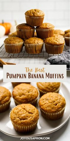 Pumpkin Banana Muffins - a Fall sweet breakfast, snack or dessert. Perfect for afternoon tea and lnchboxes as well. These pumpkin and banana flavored muffins are moist, soft and so flavorful. Perfect with a cup of coffee or tea!