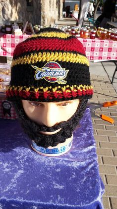 Cleveland Cavaliers Basketball by DWedgeCreations on Etsy  #ClevelandCavaliers #Cavaliers #CavaliersBeardedBeanie #Custom #DWedgeCreations Etsy by DWedgeCreations http://etsy.me/2ba7Bda via @Etsy