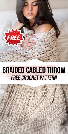 Crochet braids 694609942514767741 - crochet Braided Cabled Throw free pattern – easy crochet throw pattern for beginners Source by Crochet Throw Pattern, Crochet Shawl Free, Bag Crochet, Manta Crochet, Afghan Crochet Patterns, Crochet Hooks, Knitting Patterns, Crochet Blankets, Crochet Afghans