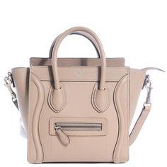 Celine Nano in Dune Celine Nano Luggage, Celine Handbags, Travel Tote, Everyday Bag, Large Tote, Star Fashion, Dune, Shoulder Strap, Purses