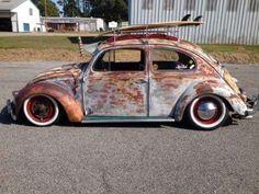 Beetle Classic I'd even take this. Beetle Bug, Vw Beetles, Vw Rat Rod, Rat Look, Vw Classic, Vw Vintage, Vw Cars, Vw Camper, Motor Car