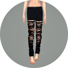 Sims 4 CC's - The Best: Ripped Jeans for Females by Marigold