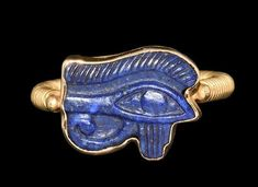 Ancient to Medieval (And Slightly Later) History - Egyptian Lapis Lazuli Eye of Horus in Gold Ring,... Ancient Egyptian Jewelry, Egyptian Art, Egypt Museum, Ancient Greek Sculpture, Classical Mythology, Tarot, Lapis Lazuli Jewelry, Eye Of Horus, Himmelblau