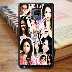 Selena Gomez Collage Idol Star Samsung Galaxy Note 4 Case