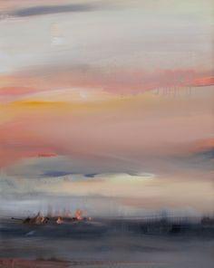 Dreamy Abstract Landscape. Oil Painting. Megan Jefferson