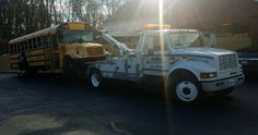 Medium Duty Towing • 2008 International School Bus Air over hydraulic brake issues