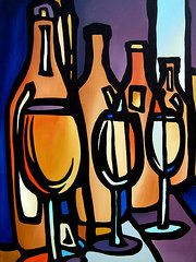 Pop ART Abstract MODERN Martini Cocktail print by Fidostudio Original Juicing