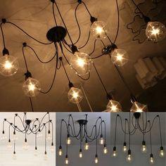 Circa Who Furniture Chandeliers, Modern Chandelier, Chandelier Lighting, Loft Lighting, Dining Room Lighting, Modern Lighting, Edison Lampe, Retro Lampe, Retro Vintage