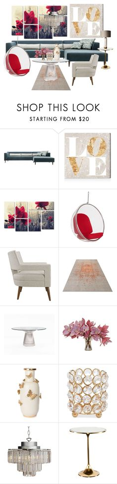 """""""Love Was Born In The Paradise"""" by hiddensoulmemories ❤ liked on Polyvore featuring interior, interiors, interior design, home, home decor, interior decorating, Oliver Gal Artist Co., Trademark Fine Art, Rove Concepts and The French Bee"""