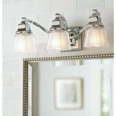 Exceptionnel Hampton Bay Olivet 3 Light Chrome Vanity Light With Cube Glass Shades | Bathroom  Lighting | Pinterest | Bath Light, Chrome And Bath