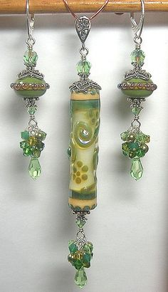 Artisan Handcrafted Lampwork Art Glass by GlitterbugOriginals, $95.00