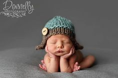Oh my, maybe this one.... Etsy-Knit Aviator hat, baby boy hat, knit baby hat, newborn photography, photo prop