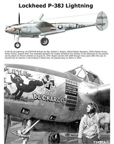 Lockheed Lightning with one of the better nose art designs. Lightning Aircraft, Lockheed P 38 Lightning, Aviation World, Aviation Art, Nose Art, Ww2 Aircraft, Military Aircraft, Fighter Pilot, Fighter Jets