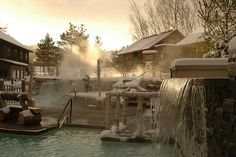 Scandinave Spa Waterfall by Scandinave Spa Blue Mountain, via Flickr