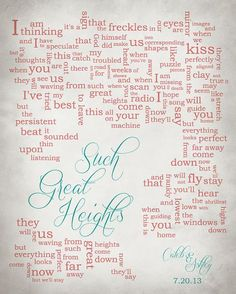 Hey, I found this really awesome Etsy listing at https://www.etsy.com/listing/168111933/wedding-song-lyric-art-such-great