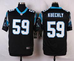 Mens Nike Carolina Panthers 59 Luke Kuechly Black Elite Jersey