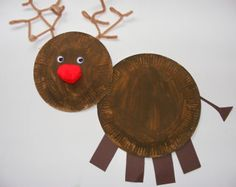 Paper Plate Rudolph