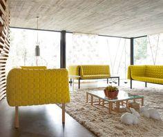 Coffee table / contemporary / glass / beech ANTIGONE Ligne Roset