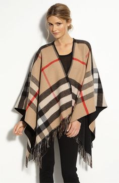 Burberry Mega Check Merino Wool & Cashmere Ruana