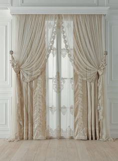 Chicca Orlando Italian company, produce luxury home textiles and furniture made in Italy, with high quality embroidery fabric and unique design.Chicca Orlando creates curtains and home textile with total customization and exclusive Italian style. Luxury Curtains, Elegant Curtains, Home Curtains, Hanging Curtains, Curtains With Blinds, Kitchen Curtains, Classic Curtains, Curtain Styles, Curtain Designs