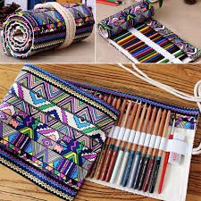 Holes Canvas Wrap Roll up Pencil Case Pen Bag Holder Storage Pouch New in Health & Beauty, Makeup, Makeup Bags & Cases Roll Up Pencil Case, Diy Pencil Case, Sewing Hacks, Sewing Crafts, Sewing Projects, Diy Sac, Pencil Bags, Pencil Pouch, Pen Case