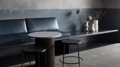 """Patchy grey surfaces and concrete fixtures appear inside this bar in New South Wales, which Australian studio Pattern has designed to reflect the """"raw beauty"""" of late-night eateries in Mexico. Studio Interior, Cafe Interior, Modern Interior, Modern Decor, Interior Design, Commercial Interiors, Decorating On A Budget, Home Decor Styles, Country Decor"""