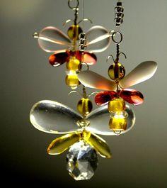 Butterfly Mobile Crystal Suncatcher Butterfly by bytheartisan, $26.00