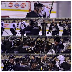 This is so cute! Heehee, random thought. Geno and Hoffer look like a newly married couple. And they're being congratulated by their dearest friends, who are more than happy for them. I should be banned. But they make such a cute couple!