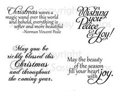 Christmas Greetings Digital Stamp Set - Sweet 'n Sassy Stamps LLC More