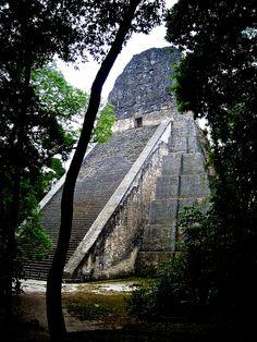 Ancient Maya Ruins. Tikal. Guatemala.