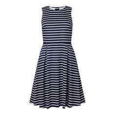 Ärmlös vävd klänning, Blå, Holly & Whyte, Dam   Lindex